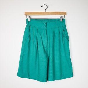 VTG • Anna & Frank 100% Silk Loose Hi Rise Shorts